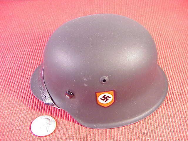 German Helmet SS Flat Black 2