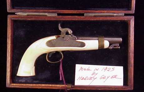 Harvey Geyer third scale 1842 Ames Navy percussion pistol-1