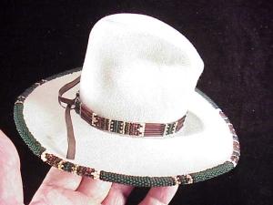 Rands Tom Horn beaded cowboy hat-2