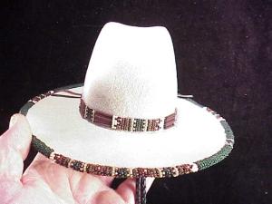 Rands Tom Horn beaded cowboy hat-3