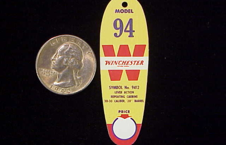 Half scale Winchester 1894 oval hang tag-1
