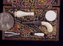 Antique Muff Pistol cased w acc-1
