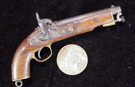 Unknown German percussion martial pistol-1