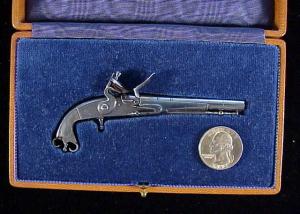 Armstring Scottish flintlock pistol-1