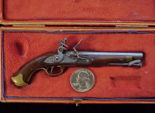 Antique British flintlock martial pistol-1
