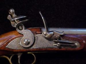 Antique British flintlock martial pistol-12