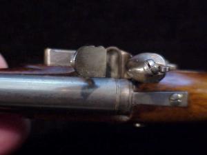 Antique British flintlock martial pistol-13
