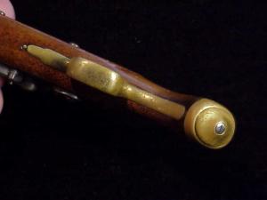 Antique British flintlock martial pistol-15