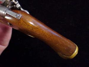 Antique British flintlock martial pistol-16