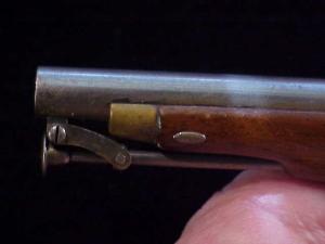 Antique British flintlock martial pistol-19