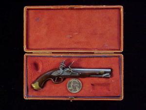 Antique British flintlock martial pistol-2
