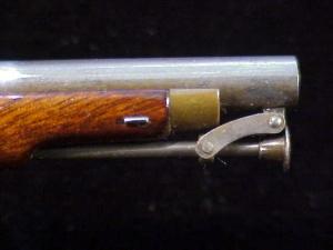 Antique British flintlock martial pistol-20