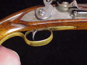 Antique British flintlock martial pistol-21