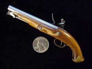 Antique British flintlock martial pistol-4