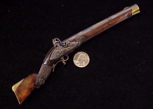 Antique German flintlock rifle-1