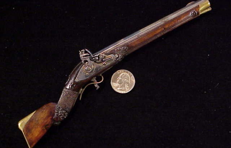 Antique German flintlock rifle-1