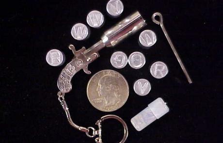A & D SS Nickel Key ring flare set, no box-1