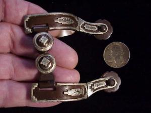Antique child spurs w silver-1