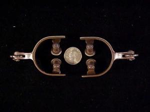 Antique child spurs w silver-4