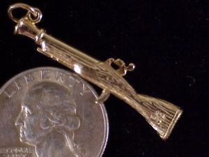 Gold blunderbus charm-2