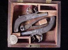 Issac Blissett FL pistol cased pair-1