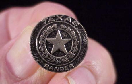 Miniature Texas Ranger Tie tack 2-3