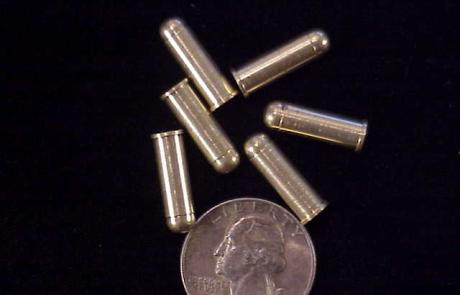 Solid brass dummy SAA ammo-1