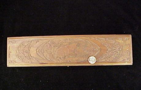 Miniart 3rd Win carved walnut case bear-1