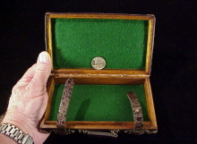 Oak & alligator leather smallest case-1
