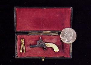 Belguim percussion pistol wivory grip KD-20-1